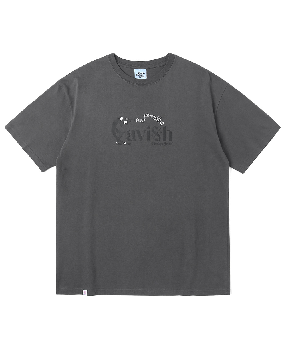 MUSIC NOTES SS TEE[CHARCOAL]